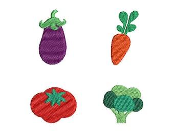 Mini Vegetables-Machine Embroidery Design