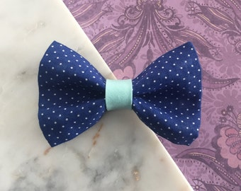 Blue Polka Dots Pet Bow Tie