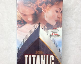 Brand New Factory Sealed James Cameron Titanic VHS Tape
