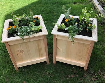 Outdoor planter etsy rustic box planters wood planter wood box planter outdoor planter flower box workwithnaturefo