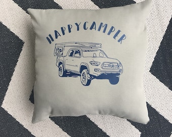 Custom FWC/airplane/car/truck/boat pillow- Gift for Camper -Happy Camper