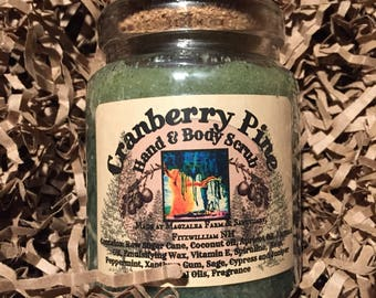 Cranberry Pine Hand & Body Emulsified Sugar Scrub, 8 oz