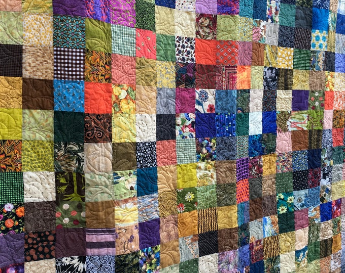 Queen Patchwork Quilt -Quilt - Country Quilt - Utility Quilted Blanket- Quilts for Queen Bed - Patchwork Quilt for Sale