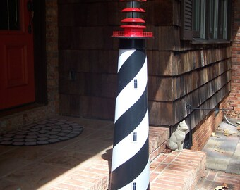 "St. Augustine Lighthouse, Solar decorative lawn and garden --  45""  --  authentic base."