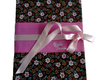 Protects fabric notebook Gwen small flowers