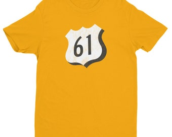 Next Level Brand Hwy 61 Mississippi Blues Trail - Short Sleeve T-shirt