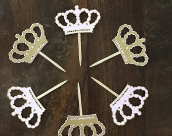 Crown Cupcake Toppers, Princess Party, Crown Party, Princess Party Decor, Princess Cupcake Toppers