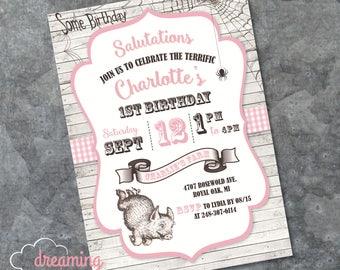 Charlotte's Web Birthday Invitation - Any age!