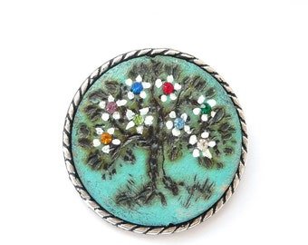 MOTHERS DAY Family jewelry - Family tree brooch, Personalized brooch gifts, MOTHERS day birthstone family tree, mothers birthstone jewelry.
