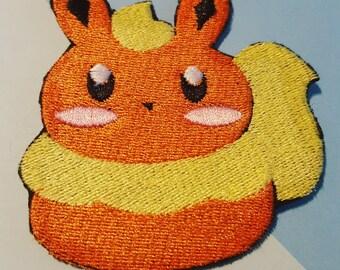 """Eeveelution Pokemon Flareon 3"""" Iron On Patch"""