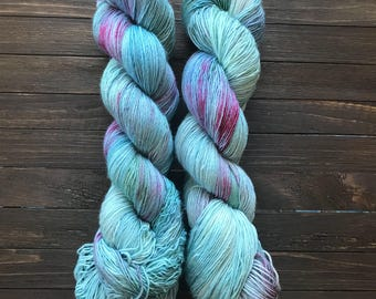 Mermaid Cove - Hand Dyed Yarn - Woolen Cat - Merino Yarn
