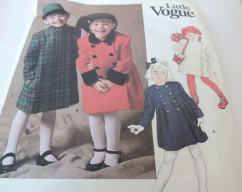 Little Vogue size 3 COAT Pattern 2148 UNCUT