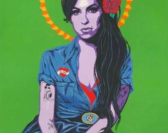 Amy Winehouse original acrylic painting