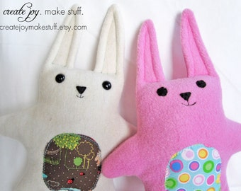 Baby Bunny Sewing Pattern - PDF printable - Quick, Easy, Easter, gift, simple, rabbit, cloth, fabric, plush, plushie, softie, doll, stuffed