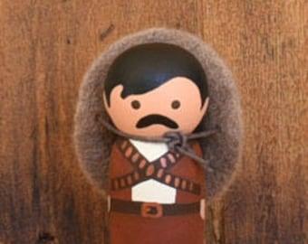 Mexican Bandito Peg Doll