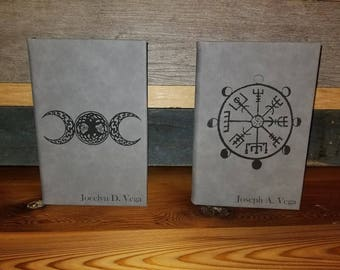 Leatherette Journal: Laser Engraved with the image of your choice!