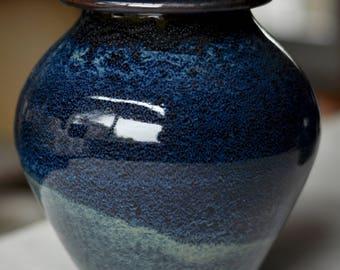 Cremation Urn, Blue Galaxy, Individual Size