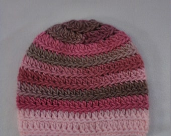 half price wool and soy hat in shades of pink