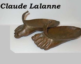 Claude Lalanne Hommage to Magritte Foot Sculpture with Autographed Book