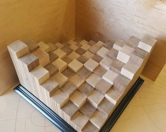 3D Wooden Chess board game