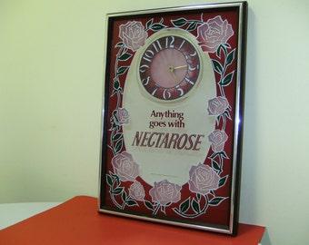 vintage NECTAROSE MIRRORED WINE sign