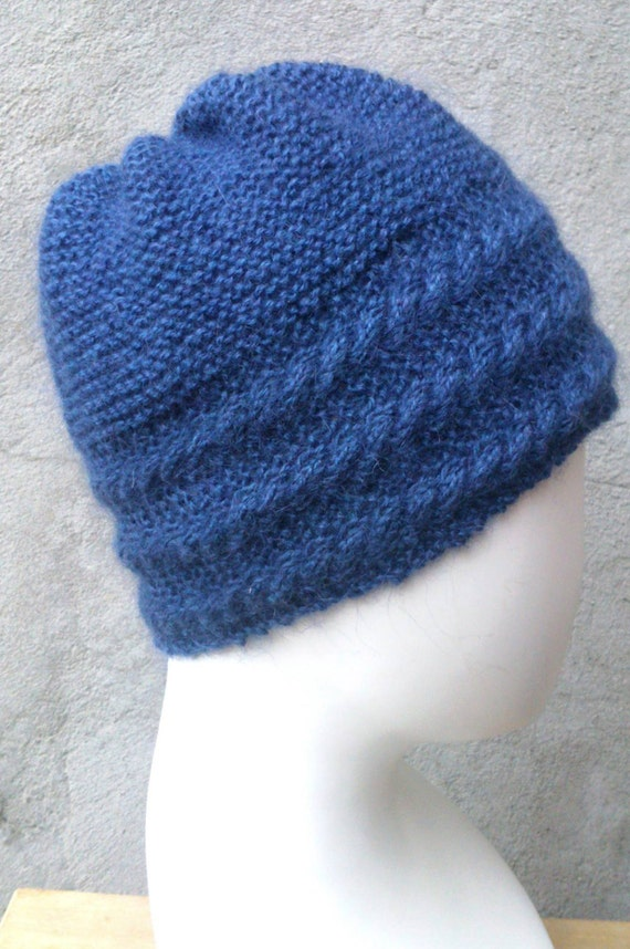 KNITTING PATTERN Hat with cabled border, flat knit hat, knit hat ...