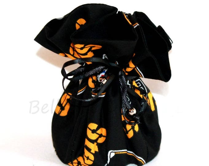 PITTSBURGH STEELERS Fabric Jewelry Bag, Organizer, Pouch, Storage, Case, Tote ~ Bell Art Designs ~ Medium ~ JBMD0363