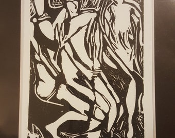 Psyche 2/20 , Lino-cut hand-pulled print