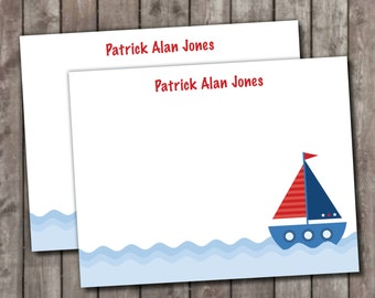 Personalized Sailboat Stationery