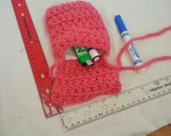hand made pink bag