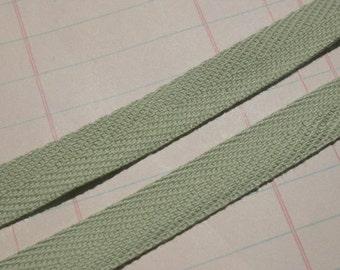 """Twill Tape Trim MINT GREEN - Cotton - 1/2"""" Wide - 6 Yards"""