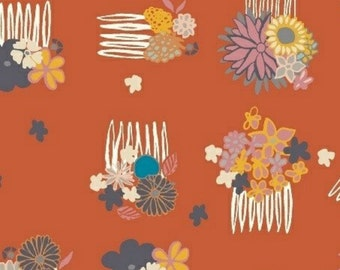 SALE - Windham Fabrics - Good Hair Day Collection - Up Do in Flame