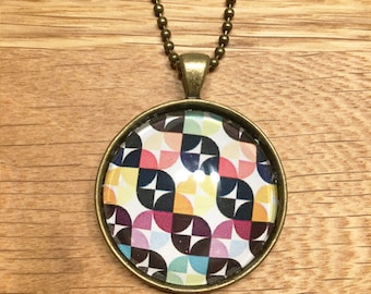 Colourful Geometric Necklace