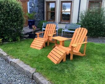 Adirondack two seat garden/patio set