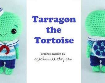PATTERN: Tarragon the Tortoise Crochet Amigurumi Doll