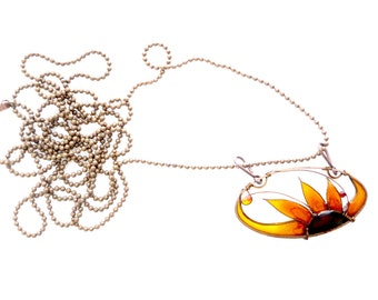 Sunflower Set. Sunflower Earrings & Sunflower Necklace. Sunflower Pendant. Sunflower Jewelry Set. Flower Jewelry Set.