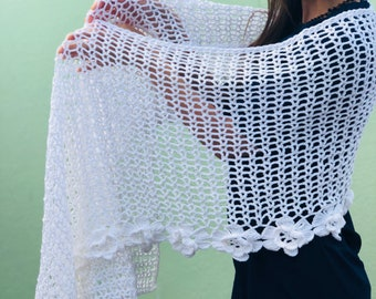 Crochet Shawl (white)