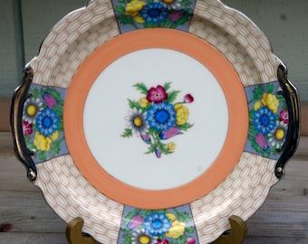 Noritake Plate,  Noritake Handled Cake Plate