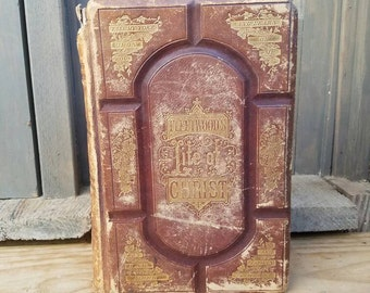 c.1870 The Life of Christ- 1800's Antique Books- Vintage Books- Christian/Christianity/Jesus- Rev. John Fleetwood- Notes by Rev. J. Brown