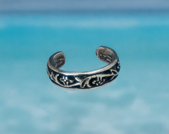 Adjustable Toe Ring : 925 Sterling Silver