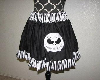 Jack Skellington inspired Cosplay Skirt, Comic Con, Geek, Nerd, Halloween, FUN