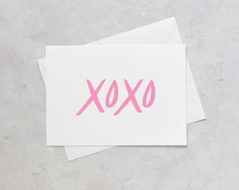 XOXO Cards - XOXO Notecards - XO Cards - Valentine's Day Card - Valentine's Day Notecard - Valentine's