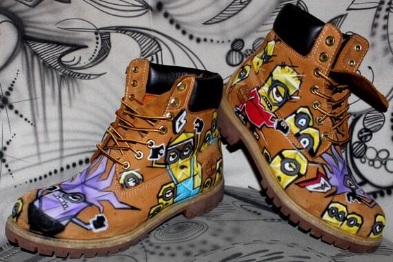 Airbrush Timberland Boots Design Custom Graffiti Style Fashion