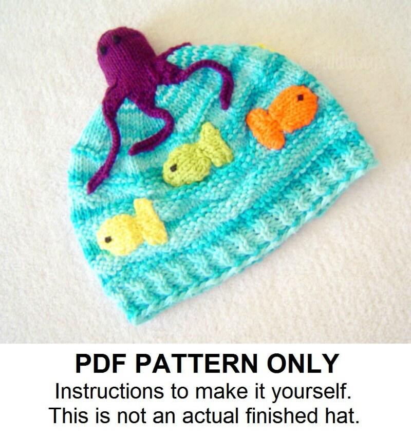 Hat Knitting Pattern Octopus Hat Pattern the OLLIE Hat