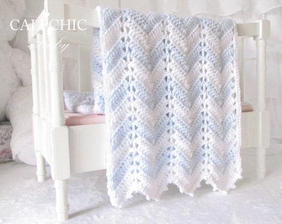 Crochet blanket pattern 55 chevron series baby blanket pattern crochet blanket pattern 55 chevron series baby blanket pattern 55 blue and white instant download pdf from calichicbaby on etsy studio dt1010fo