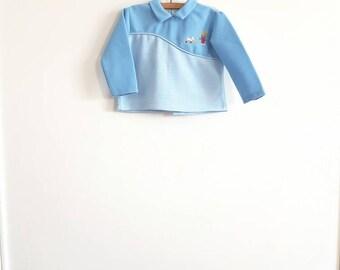 Vintage Baby Boy's Blue Shirt