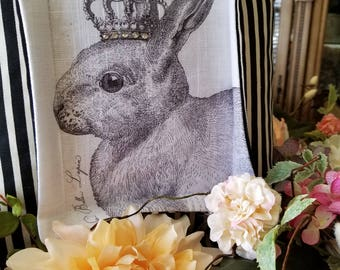 French Bunny Pillow Cover|Lapin Pillow|Easter Bunny|Spring Decor|Bella Lapin
