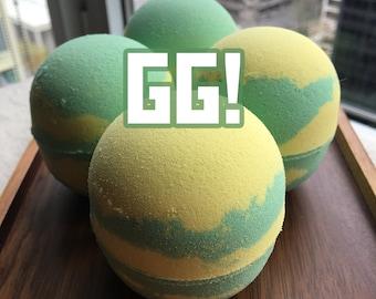GG! Video Game Bath Bomb, D.VA Overwatch, Gamer Bath Bomb, Energy Drink Scent!