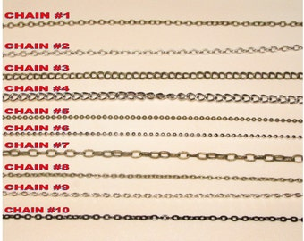 ADD ON Chain Necklace for CHARMS (Chain Choice)