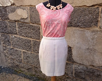 Vintage skirt, mini, mini skirt vintage skirt, skirt, vintage, white skirt, mini White skirt, linen, white linen skirt, mini skirt in linen